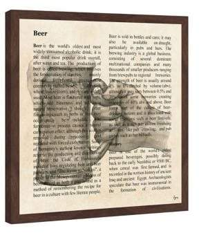 Marmont Hill Beer Toast Framed Print