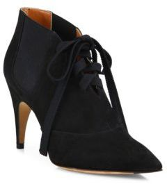 Derek Lam Odeon Lace-Up Suede Booties $850 thestylecure.com