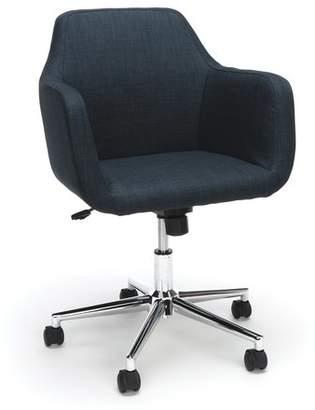Langley Street Artibrannan Upholstered Home Office Chair Color : Blue