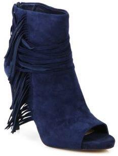 Tassel Trim Peep Toe Ankle Boots $169 thestylecure.com