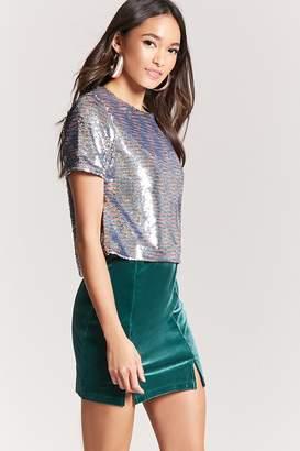 Forever 21 Velvet M-Slit Mini Skirt