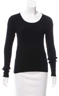 Ramy Brook Rib Knit Long Sleeve Sweater