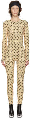 Marine Serre Tan All Over Moon Catsuit