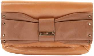 Chloé Camel Leather Clutch Bag