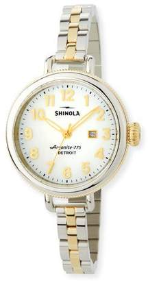 Shinola 34mm The Birdy Two-Tone Bracelet Watch