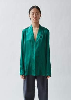 2b8819003af642 Haider Ackermann Shawl Collar Silk Blouse