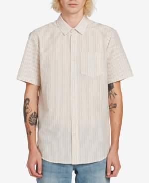 Volcom Men's Striped Short Sleeve Woven Shirt