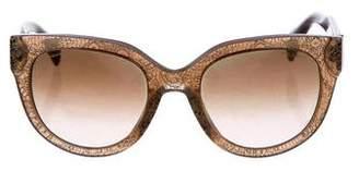 Prada Floral Print Oversize Sunglasses