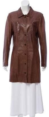 Prada Short Leather Coat