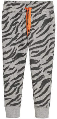 H&M Patterned Joggers - Gray