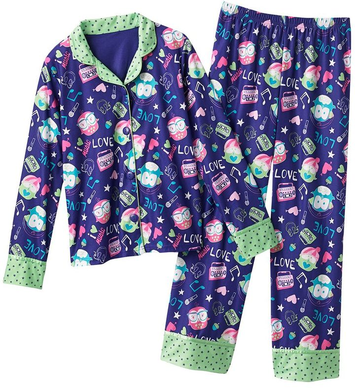 So ® owl & star pajama set - girls 7-16
