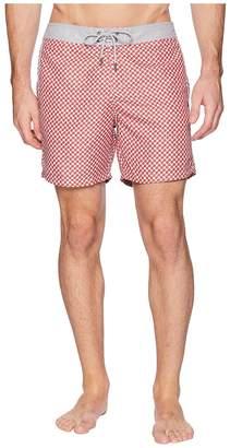Mr.Swim Mr. Swim 3D Box Fixed Waist Printed Modern Boardshorts Men's Swimwear