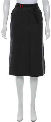 Prada Sport Virgin Wool Knee-Length Skirt