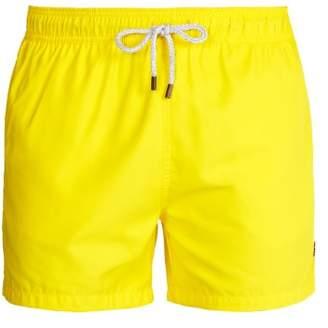 Retromarine - Straight Leg Swim Shorts - Mens - Yellow