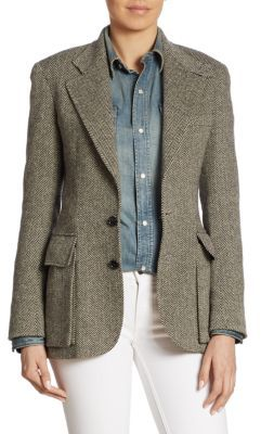 Ralph Lauren Collection Iconic Preston Herringbone Jacket $2,150 thestylecure.com