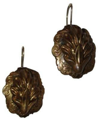 Alberto Juan Brass Sea Shell Earrings