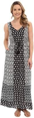 Lucky Brand Woodblock Mixed Dress Women's Dress