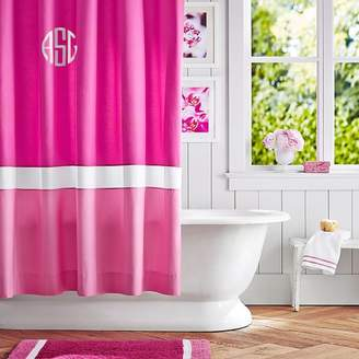 Pottery Barn Teen Color Block Shower Curtain (Girl), Pink Magenta/ Bright Pink, One Size