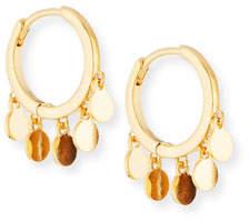 Tai Huggie Hoop Earrings w/ Coin Drops