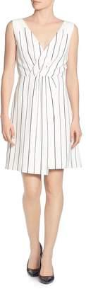 T Tahari Sleeveless Striped Dress