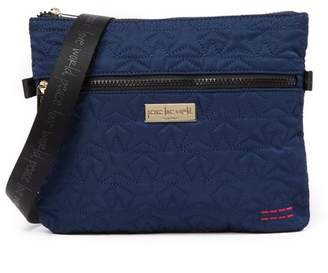 Peace Love World Quilted Nylon Crossbody Bag
