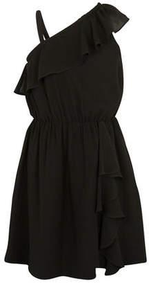 BCBGMAXAZRIA One-Shoulder Ruffle Dress - Girls