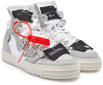 Off-White Off Court Sneakers with Leather