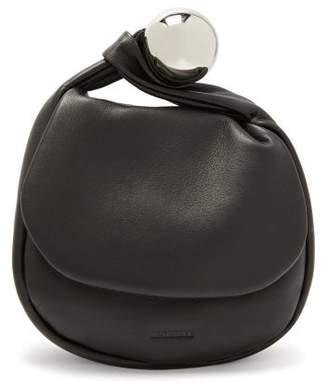 Jil Sander Metal Sphere Leather Clutch Bag - Womens - Black