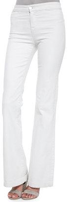 J Brand Tailored High-Rise Flare Jeans, Blanc $198 thestylecure.com