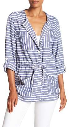 Joe Fresh Stripe Linen Blend Jacket