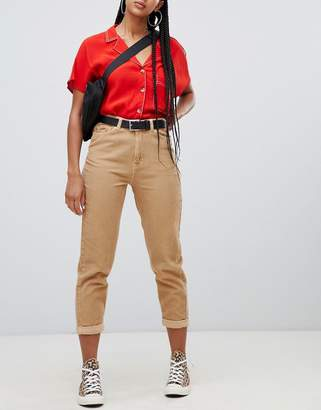 Bershka cord mom jeans