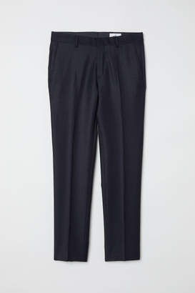 H&M Wool Suit Pants - Blue