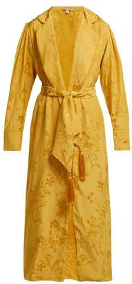 Johanna Ortiz Unusual Romance Floral Jacquard Robe - Womens - Yellow