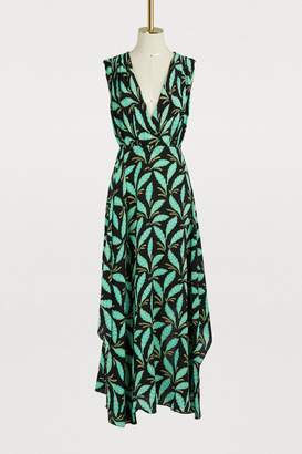 Diane von Furstenberg Silk draped long dress