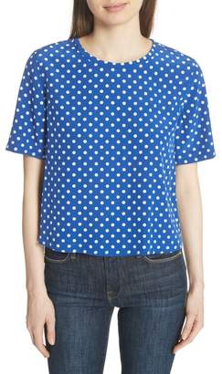 Equipment Brynn Polka Dot Silk Tee