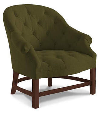 Bunny Williams Home T42 Accent Chair - Olive Velvet