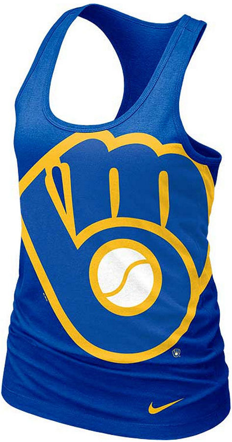 Nike Women's Milwaukee Brewers Logo Tank Top