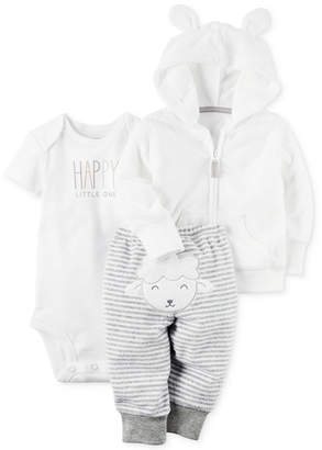 Carter's 3-Pc. Hoodie, Happy Bodysuit & Lamb Pants Set, Baby Boys & Girls (0-24 months) $15.98 thestylecure.com