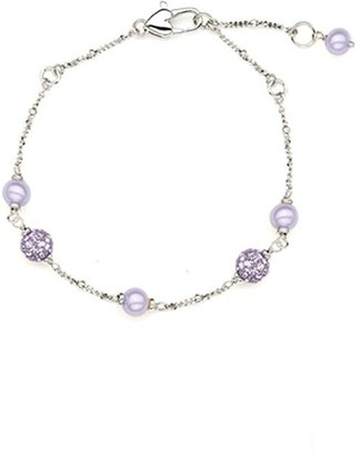 Girl's Honora Crystal & Freshwater Pearl Station Bracelet $120 thestylecure.com