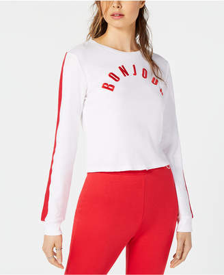 Project 28 Nyc Project 28 Bonjour Long-Sleeve Cotton Sweatshirt