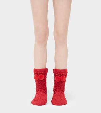 UGG Pom Pom Fleece-Lined Crew Sock