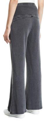 Nanette Lepore Play High-Waist Wide-Leg Sweatpants