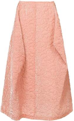 Comme des Garcons Pre-Owned puffy textured pink skirt