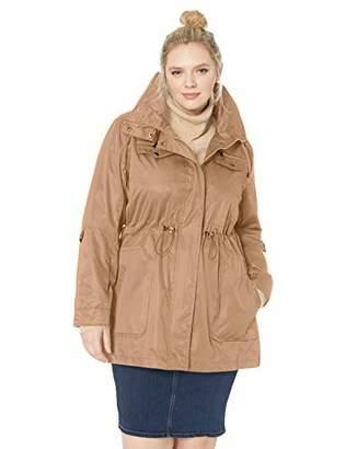 Yoki Women's Plus Size Anorak Rain Jacket