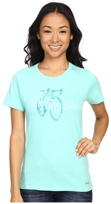 Life is Good Go Places Bike Crusher Tee Women's T Shirt