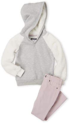 Joe's Jeans Girls 4-6x) Two-Piece Raglan Hoodie & Skinny Jeans Set