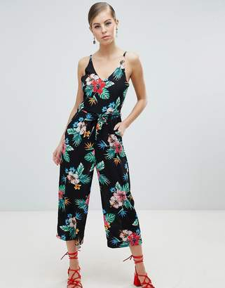 AX Paris Tropical Print Culotte Jumpsuit