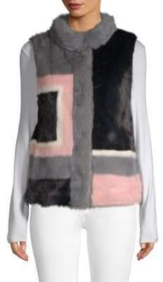 Reversible Dyed Mink Fur Vest