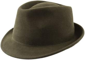 Classic Italy Nude Felt Trilby Wool Felt Trilby Hat Size 59 cm