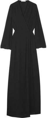 Elizabeth and James - Jolene Crepe Wrap Gown - Black $495 thestylecure.com